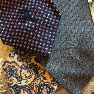 Lot of 3 Countess Mara New York men's ties